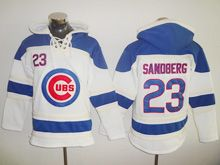 Mens Majestic Mlb Chicago Cubs #23 Ryne Sandberg White Hoodie Jersey