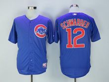 Mens Mlb Chicago Cubs #12 Kyle Schwarber Blue Jersey