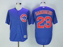 Mens Mlb Chicago Cubs #23 Ryne Sandberg Blue Jersey