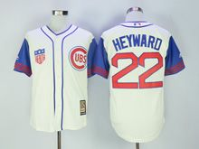 Mens Mlb Chicago Cubs #22 Jason Heyward Cream 1942 Throwbacks Jersey