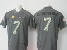Mens Nfl Pittsburgh Steelers #7 Ben Roethlisberger Black Anthracite 2016 Salute To Service Jersey