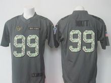 Mens   Houston Texans #99 Jj Watt Black 2016 Salute To Service Jersey