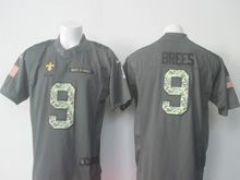 Mens Nfl New Orleans Saints #9 Drew Brees Black 2016 Salute To Service Jersey