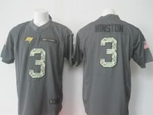 Mens Nfl Tampa Bay Buccaneers #3 Jameis Winston Black 2016 Salute To Service Jersey