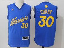 Mens Adidas Golden State Warriors #30 Stephen Curry Blue 2016 Christmas Day Jersey