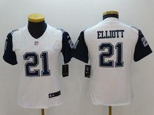 Youth   Dallas Cowboys #21 Ezekiel Elliott White Color Rush Limited Jersey