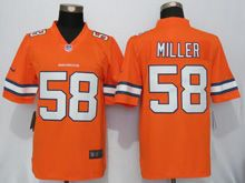 Mens   Denver Broncos #58 Von Miller Orange Color Rush Limited Jersey