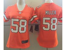 Women   Nfl Denver Broncos #58 Von Miller Orange Color Rush Limited Jersey
