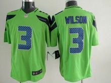 Mens   Nfl Seattle Seahawks #3 Russell Wilson Green Color Rush Limited Jersey