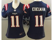 Women Nfl New England Patriots #11 Julian Edelman Navy Blue Vapor Untouchable Color Rush Limited Player Jersey