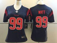 Women   Nfl Houston Texans #99 Jj Watt Navy Blue Color Rush Limited Jersey