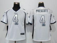 Women   Nfl Dallas Cowboys #4 Dak Prescott White Drift Fashion Limited Jersey