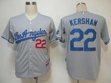 Mens Mlb Los Angeles Dodgers #22 Kershaw Gray Los Angeles Jersey