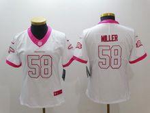 Women   Nfl Denver Broncos #58 Von Miller White Pink Color Rush Limited Jersey