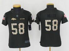 Youth   Denver Broncos #58 Von Miller Black 2016 Salute To Service Jersey