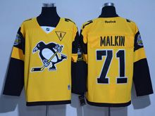 Mens Reebok Nhl Pittsburgh Penguins #71 Evgeni Malkin Yellow 2017 Stadium Series Jersey