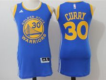 Women Adidas Golden State Warriors #30 Stephen Curry Royal Blue Jersey