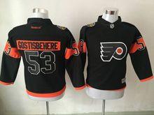 Youth Reebok Philadelphia Flyers #53 Shayne Gostisbehere Black 2017 Stadium Series Jersey