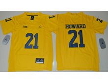 Youth Ncaa Nfl Jordan Brand Michigan Wolverines #21 Desmond Howard Yellow Limited Jersey