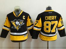 Youth Reebok Nhl Pittsburgh Penguins #87 Sidney Crosby Black Jersey