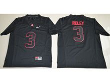 Mens Ncaa Nfl Alabama Crimson Tide #3 Calvin Ridley Black Shadow Fashion Jersey