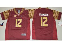 Youth Ncaa Nfl Florida State Seminoles #12 Deondre Francois Red Limited Jersey