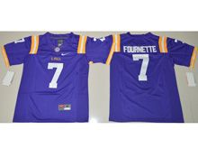 Youth Ncaa Nfl Lsu Tigers #7 Leonard Fournette Purple Limited Jersey