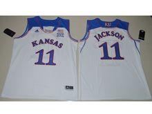 Mens Ncaa Nba Kansas Jayhawks #11 Josh Jackson White Jersey