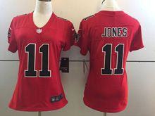 Women   Nfl Atlanta Falcons #11 Julio Jones Red Color Rush Limited Jersey