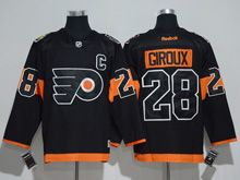Mens Reebok Philadelphia Flyers #28 Claude Giroux Black 2017 Stadium Series Jersey