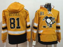 Mens Reebok Nhl Pittsburgh Penguins #81 Phil Kessel Yellow Hoodie