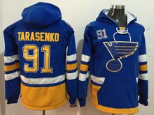 Reebok St.louis Blues #91 Vladimir Tarasenko Blue Hoodie