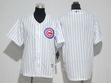 Mens Majestic Mlb Chicago Cubs (blank) White Cool Base Jersey