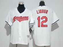 Mens Majestic Mlb Cleveland Indians #12 Francisco Lindor White Cool Base Jersey