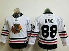 Youth Reebok Nhl Chicago Blackhawks #88 Patrick Kane White 2017 Winter Classic Jersey