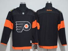 Mens Reebok Philadelphia Flyers Blank Black 2017 Stadium Series Jersey