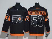 Mens Reebok Philadelphia Flyers #53 Shayne Gostisbehere Black 2017 Stadium Series Jersey