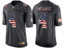 Mens   Dallas Cowboys #4 Dak Prescott Green Usa Flag 2016 Salute To Service Jersey