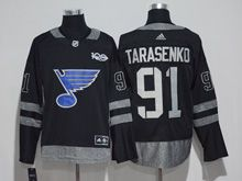 Mens St.louis Blues #91 Vladimir Tarasenko Black 100 Anniversary Adidas Jersey
