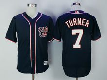 Mens Mlb Washington Nationals #7 Trea Turner Navy Blue Cool Base Jersey