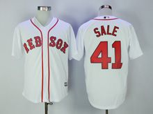 Mens Mlb Boston Red Sox #41 Chris Sale White Cool Base Jersey
