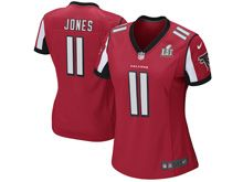 Women   Atlanta Falcons #11 Julio Jones Red Super Bowl Li Bound Game Jersey