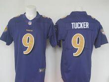 Mens Nfl Baltimore Ravens #9 Justin Tucker Purple Color Rush Limited Jersey