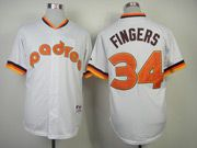 Mens Mlb San Diego Padres #34 Fingers White 1984 Turn Back Jersey