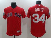 Mens Majestic Boston Red Sox #34 David Ortiz Red 2017 Spring Training Flex Base Jersey