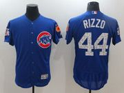 Mens Mlb Chicago Cubs #44 Anthony Rizzo Blue 2017 Spring Training Flex Base Jersey