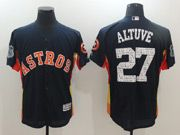 Mens Majestic Houston Astros #27 Jose Altuve Black 2017 Spring Training Flex Base Jersey