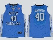 Mens Ncaa Nba North Carolina #40 Barnes Blue Jersey