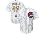 Mens Majestic Mlb Chicago Cubs #49 Arrieta White 2017 Gold Program Cool Base Player Jersey