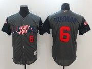 Mens Mlb Usa Team 2017 Baseball World Cup #6 Stroman Grey Jersey
